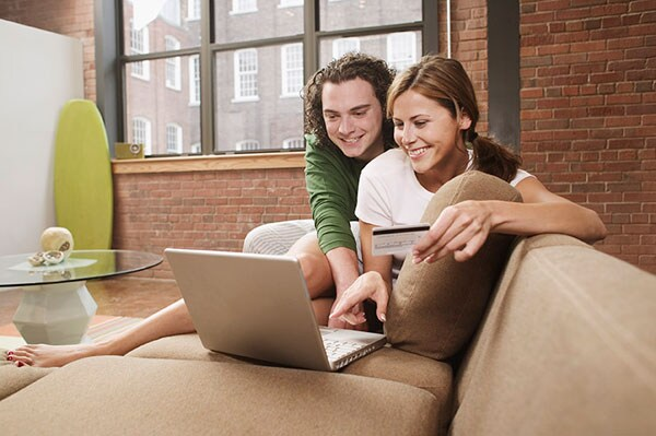 Couple On Laptop | Evansville, IN
